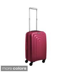 Lojel Wave Polycarbonate 22-inch Carry-on Upright Spinner Suitcase