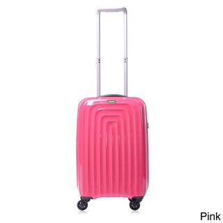 Lojel Wave Polycarbonate 22-inch Small Carry-on Upright Spinner Suitcase