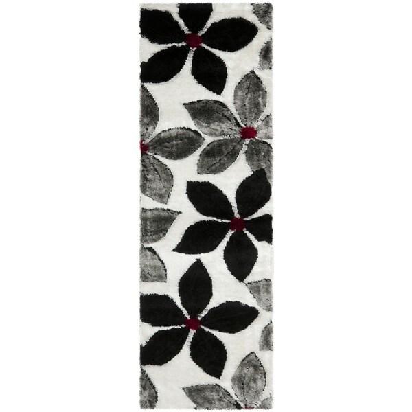 Safavieh Shag Black Rug (2'3 x 7')
