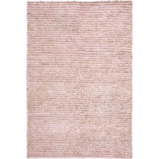 Safavieh Hand-woven Shag Pink Rug (9' x 12')