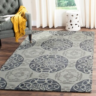 Safavieh Handmade Wyndham Silver Wool Rug (8'9 x 12')