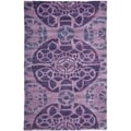 Safavieh Handmade Wyndham Purple Wool Rug (2' x 3')