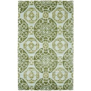 Safavieh Handmade Wyndham Turquoise Wool Rug (10' x 14')