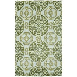 Safavieh Handmade Wyndham Turquoise Wool Rug (8'9 x 12')