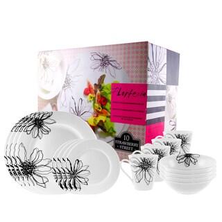 'Flortenia' 16-piece Round Dinnerware Set