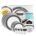 'Serratta' 16-piece Round Dinnerware Set