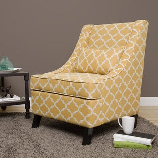 Swoop French Yellow Trellis Arm Chair