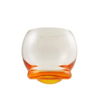 Bell Orange Wobble Glasses (Set of 6)