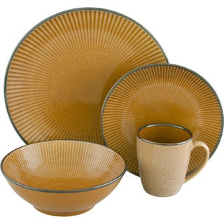 Corona Gold 16-piece Dinnerware Set