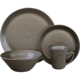 Sango Comet Black 16-piece Dinnerware Set