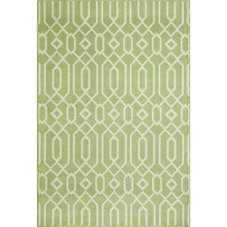 Links Green Indoor/ Outdoor Rug (2'3 x 4'6)