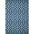 Links Navy Indoor/ Outdoor Rug (2'3 x 4'6)