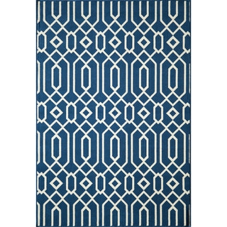 Links Navy Indoor/ Outdoor Rug (1'8 x 3'7)