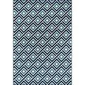 Blocks Blue Indoor/ Outdoor Rug (2'3 x 4'6)