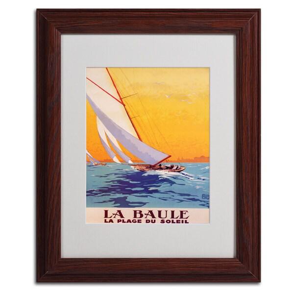 Charles Allo 'La Baule' Framed Matted Art