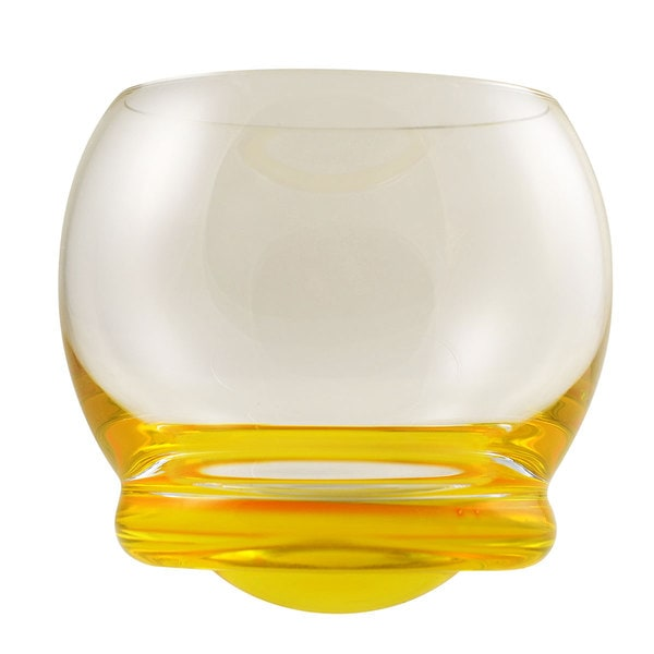 Bell Yellow Wobble Glasses (Set of 6)