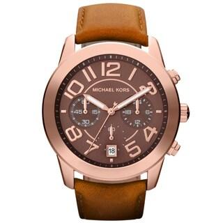 Michael Kors Women's MK2265 'Mercer' Rose Gold-Tone Chronograph Watch