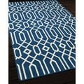 Links Navy Indoor/ Outdoor Rug (3'11 x 5'7)