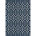 Links Navy Indoor/ Outdoor Rug (6'7 x 9'6)