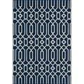 Indoor/ Outdoor Navy Links Rug (6'7 x 9'6)