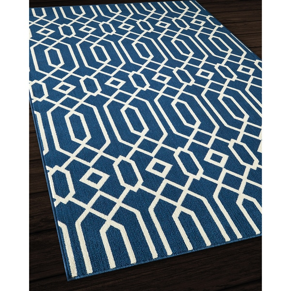 Indoor Outdoor Navy Links Rug 7 10 x 10 10