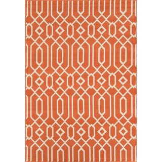 Indoor/ Outdoor Orange Links Rug (6'7 x 9'6)