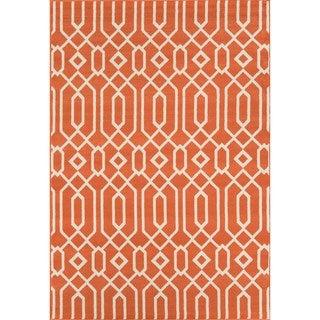 Indoor/ Outdoor Orange Links Rug (6'7 x 9'6)