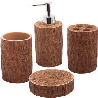 Jovi Home Woodland 4-piece Bath Accessory Set