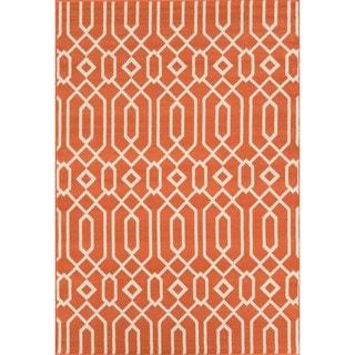 Indoor/ Outdoor Orange Links Rug (7'10 x 10'10)