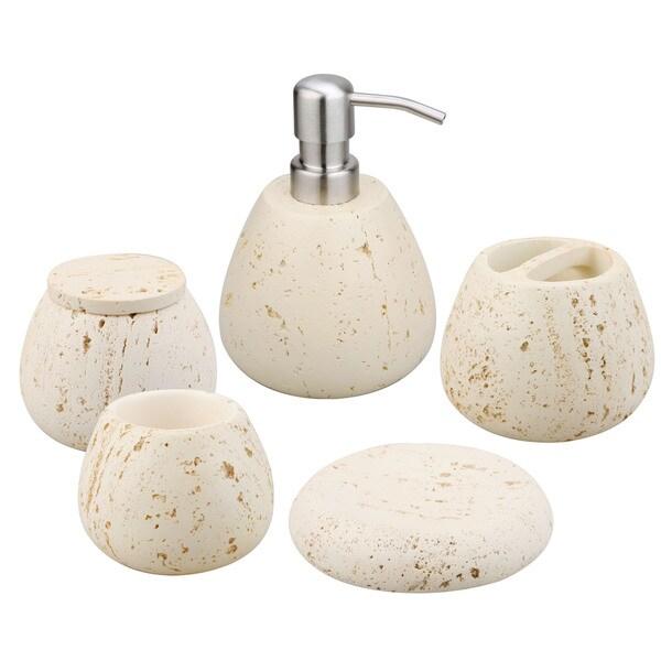 Jovi home essence bath accessory 5 piece set 15430019 for Bathroom 5 piece set