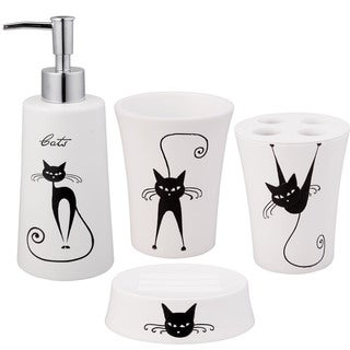 Jovi Home Cats 4-piece Bath Accessory Set