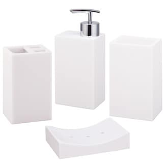 Jovi Home Paragon White 4-piece Bath Accessory Set