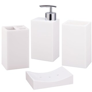 Jovi Home Paragon White Bath Accessory 4-piece Set