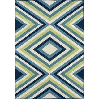 Indoor/Outdoor Multi Zig-Zag Rug (6'7 x 9'6)
