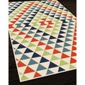 Indoor/Outdoor Multi Kaleidoscope Rug (1'8 x 3'7)