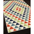 Indoor/Outdoor Multi Kaleidoscope Rug (3'11 x 5'7)