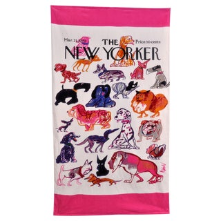 New Yorker Dogs Beach Towel