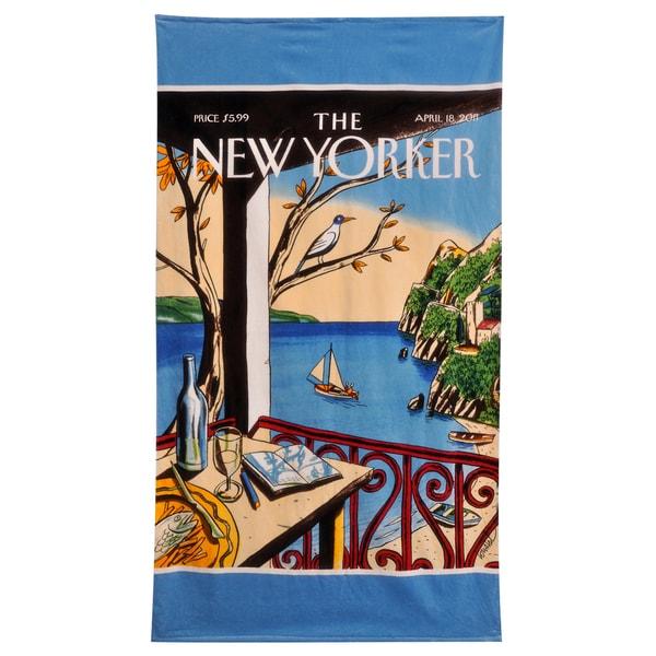 NY Sailboat Beach Towel