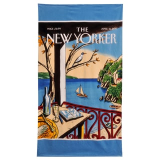 NY Sailboat Beach Towel