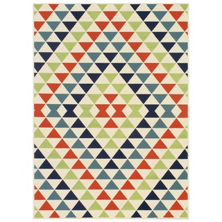 Indoor/Outdoor Multi Kaleidoscope Rug (8'6 x 13'0)