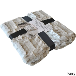 Fashion St. Faux Fur Leopard Throw Blanket
