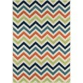 Indoor/Outdoor Multi Chevron Rug (6'7 x 9'6)