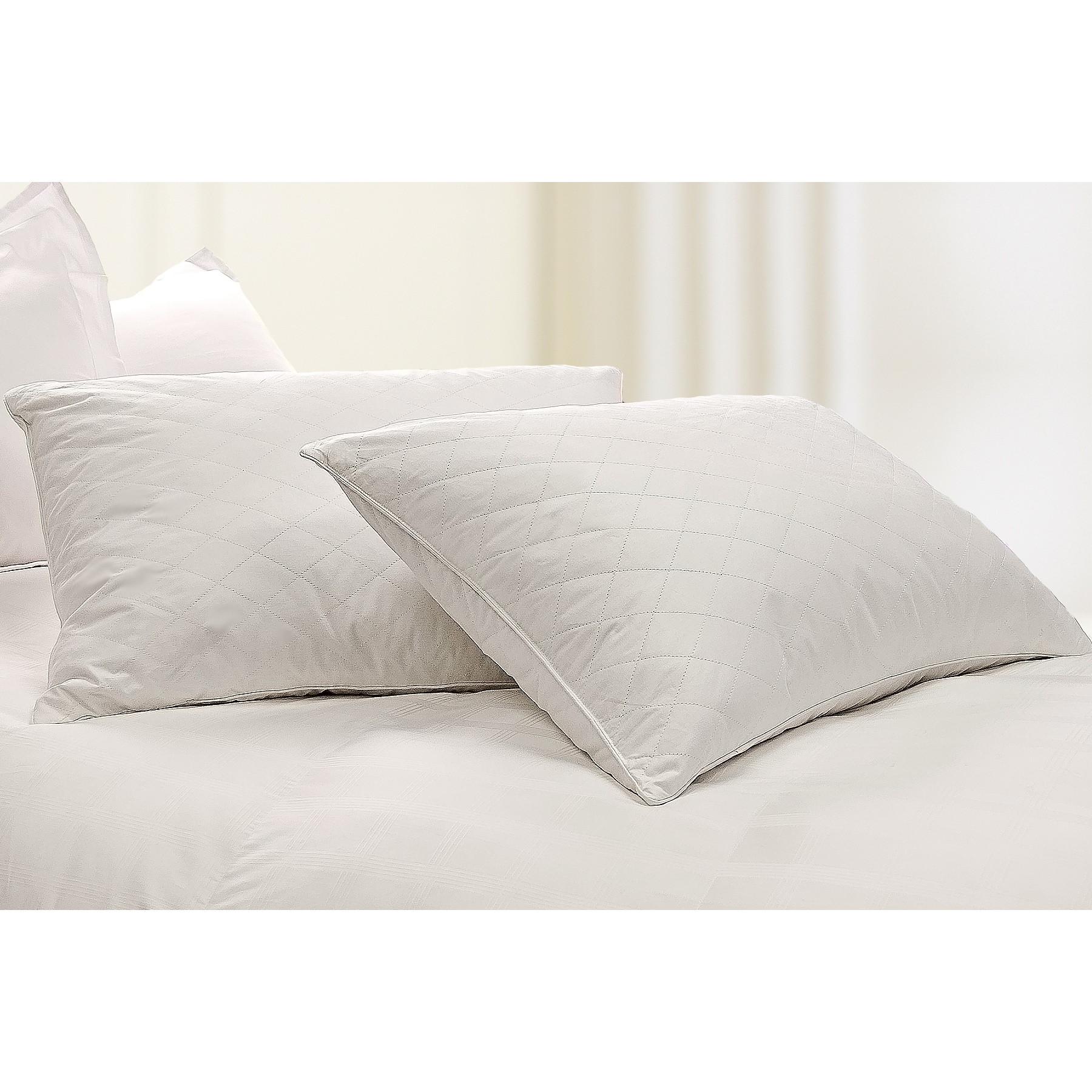 Quilted 233 Thread Count Jumbo-size Natural Feather Pillows (Set of 2) at Sears.com