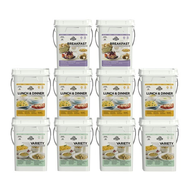 Augason Farms 1 Month, 4 Person, Emergency Food Supply Kit