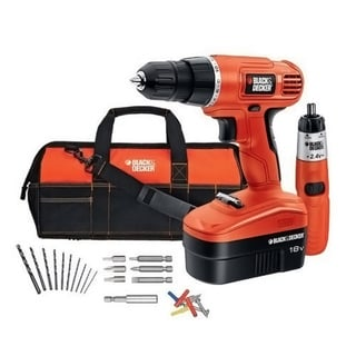 Black & Decker 18v Cordless Drill and Screwdriver Project Kit