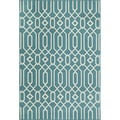 Indoor/Outdoor Blue Links Rug (5'3 x 7'6)