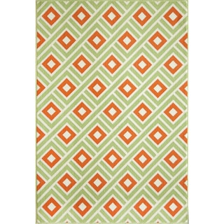 Indoor/ Outdoor Multi Blocks Rug (1'8 x 3'7)