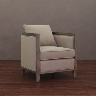 Elliot Beige Linen Lounge Chair