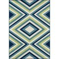 Indoor/ Outdoor Multi Zig-Zag Rug (7'10 x 10'10)