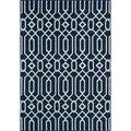 Indoor/ Outdoor Navy Links Rug (8'6 x 13'0)